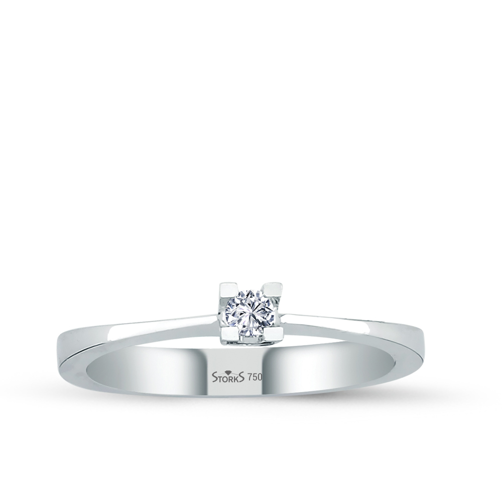 0.07 ct Diamond Solitaire Engagement Ring