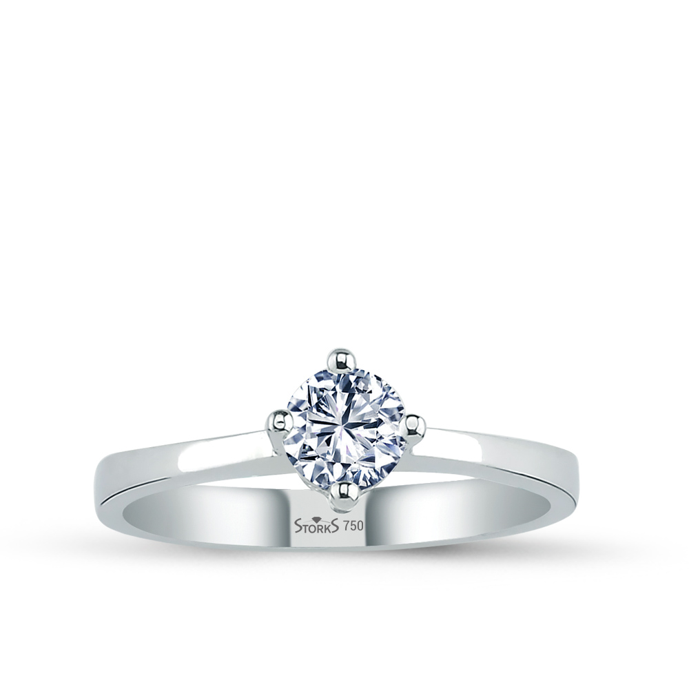 0.41 ct Diamond Solitaire Engagement Ring