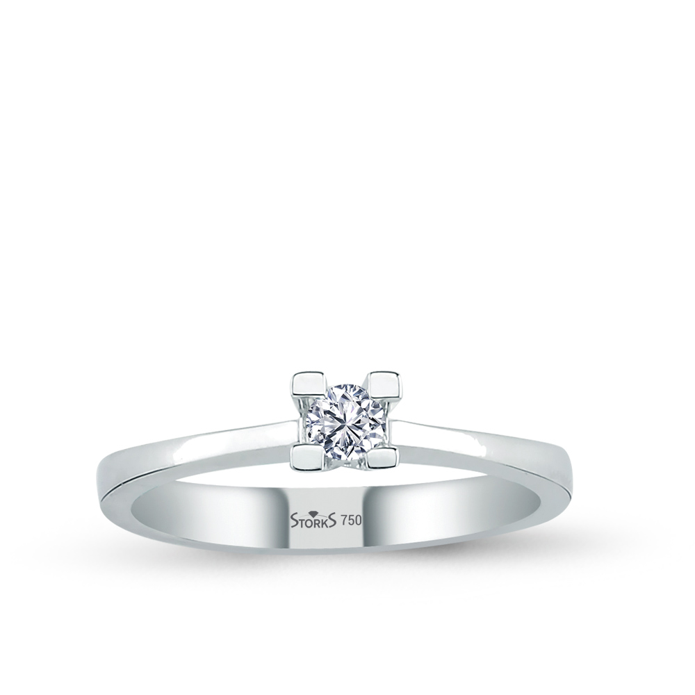 0.10 ct Diamond Solitaire Engagement Ring