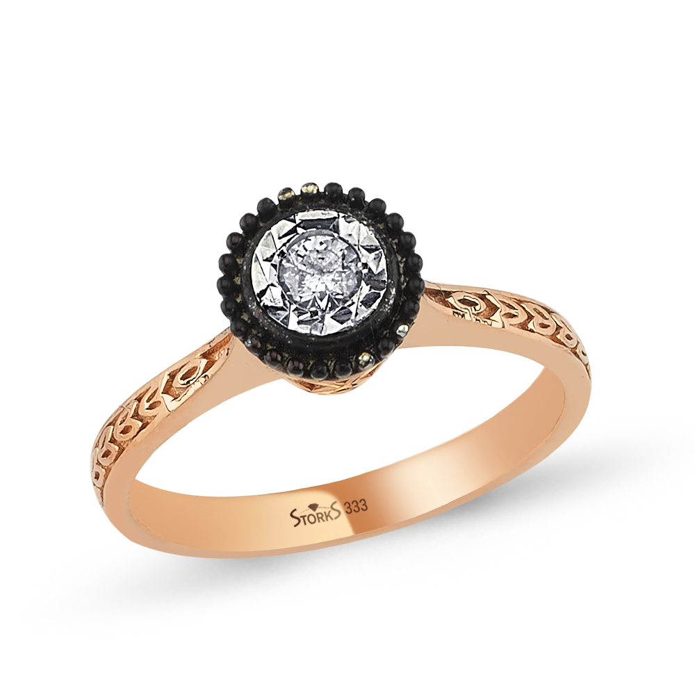 0.13 Carat Rose Cut Diamond Specchio Ring