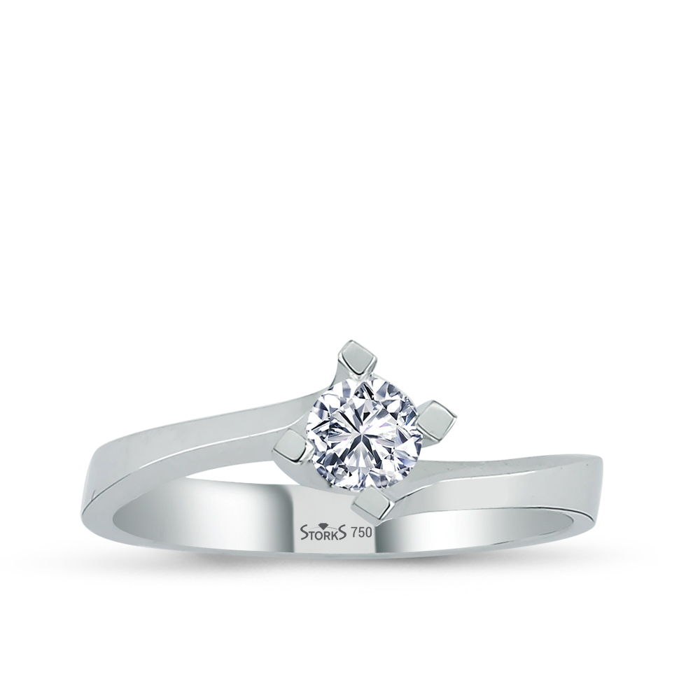 0.32 ct Diamond Solitaire Engagement Ring