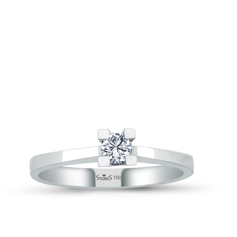 0.14 ct Diamond Solitaire Engagement Ring