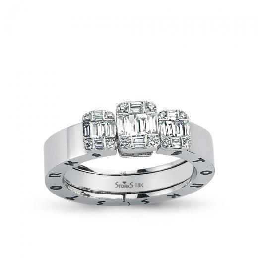Storks Baguette Diamond Ring